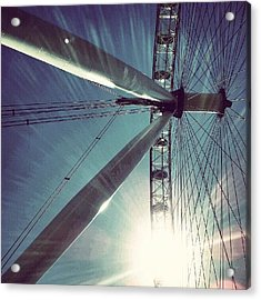 Sunnd Day In London, London Eye Acrylic Print by Abdelrahman Alawwad