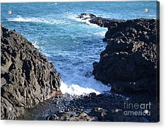 Acrylic Print featuring the photograph Sunny Day And Stormy Sea 3 by Kathleen Pio