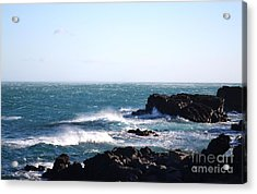 Acrylic Print featuring the photograph Sunny Day And Stormy Sea 4 by Kathleen Pio