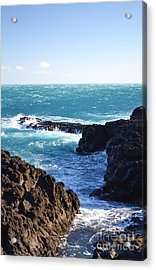 Sunny Day And Stormy Sea Acrylic Print