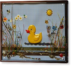 Sunny Duck Acrylic Print by Gracies Creations