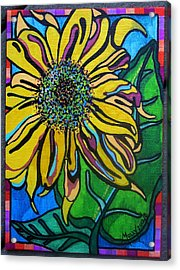 Sunny Sunflower Acrylic Print by Molly Williams