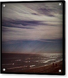 Sunny Winter Day. #ocean #beach #surf Acrylic Print