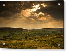 Sunrays Through Clouds, North Acrylic Print by John Short