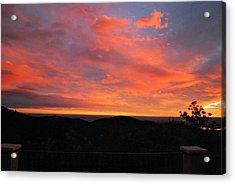 Sunrise Above Boulder-photo Acrylic Print