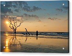 Sunrise At Bone Yard Beach Acrylic Print