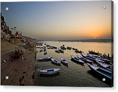 Sunrise At Ganges River Acrylic Print