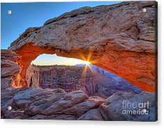 Sunrise At Mesa Arch Acrylic Print