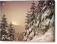 Sunrise At Mt Rainier Acrylic Print by Nichon Thorstrom