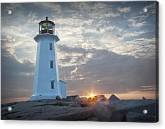 Sunrise At Peggys Cove Lighthouse In Nova Scotia Number 041 Acrylic Print