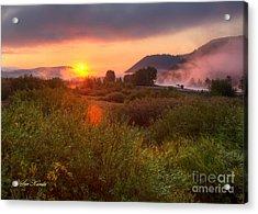 Sunrise At Snake River Acrylic Print