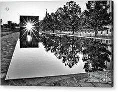 Sunrise At The Alfred P Murrah Memorial Acrylic Print by Tamyra Ayles