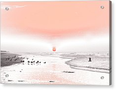 Acrylic Print featuring the photograph Pastel Sunrise Beach by Tom Wurl