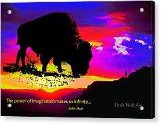 Sunrise Bison Collage Acrylic Print