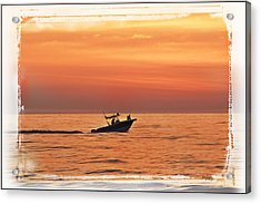 Acrylic Print featuring the photograph Sunrise Boat Ride by Janie Johnson