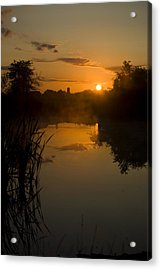 Sunrise By A Lake Acrylic Print by Pixie Copley