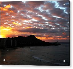 Sunrise Diamond Head I Acrylic Print