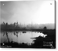 Acrylic Print featuring the photograph Sunrise Drilling by John Burns