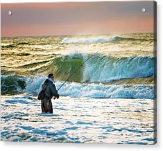Sunrise Fisherman Acrylic Print by Vicki Jauron