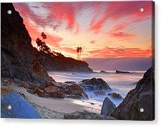 Sunrise In Laguna Beach Acrylic Print