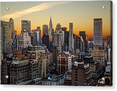 Sunrise In The City II Acrylic Print by Janet Fikar
