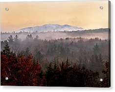 Sunrise In The East On The Kancamagus Highway Acrylic Print
