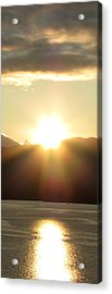 Sunrise In The Fjord Acrylic Print by Judy Garrett