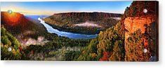 Sunrise In The Gorge Acrylic Print by Steven Llorca