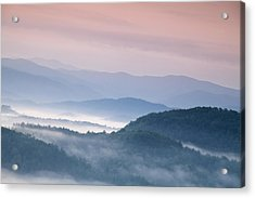 Sunrise In The Smokies Acrylic Print by Andrew Soundarajan