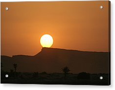 Sunrise In Tunisia Acrylic Print by Simona  Mereu