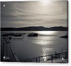 Sunrise Lake Pleasant Acrylic Print by Arne Hansen