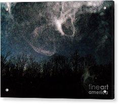 Sunrise Mist And Moon Acrylic Print