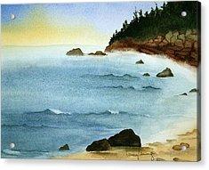 Sunrise On Big Bay Acrylic Print