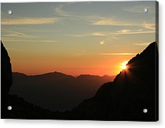 Sunrise On Mt.whitney Acrylic Print