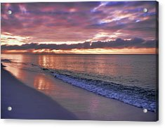 Sunrise On Navarre Beach Acrylic Print