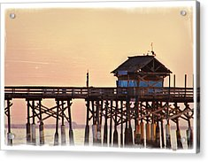 Acrylic Print featuring the photograph Sunrise On Rickety Pier by Janie Johnson