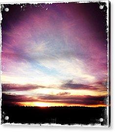 Sunrise On Ridge Acrylic Print