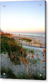 Sunrise On Sea Oats -2 Acrylic Print by Alan Hausenflock