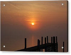 Sunrise On The River Acrylic Print