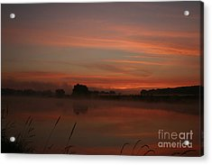 Sunrise On The River Acrylic Print by Torsten Dietrich