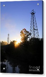 Sunrise On The Sabine Acrylic Print by Kathy  White