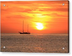Sunrise On The Sea Of Cortez Acrylic Print by Roupen  Baker