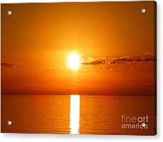 Acrylic Print featuring the photograph Sunrise Orange Skies by Eve Spring