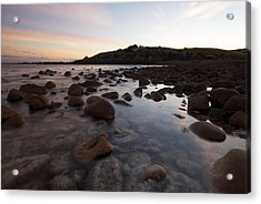 Sunrise Over A Rocky Boulder Bay Acrylic Print by Brooke Whatnall