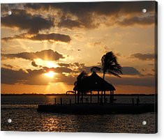 Acrylic Print featuring the photograph Sunrise Over Bay by Clara Sue Beym