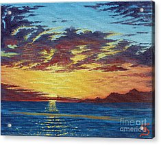 Sunrise Over Gonzaga Bay Acrylic Print