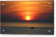 Acrylic Print featuring the photograph Sunrise Over Gyeng-po Sea by Kume Bryant