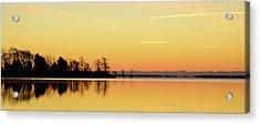 Sunrise Over Lake Acrylic Print by Patti White Photography