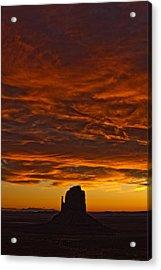 Sunrise Over Monument Valley, Arizona Acrylic Print by Robert Postma