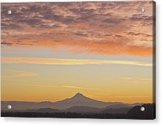 Sunrise Over Mount Hood From Mount Tabor Acrylic Print